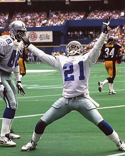 DEION SANDERS DALLAS COWBOYS 8X10 SPORTS ACTION PHOTO (XLT-2) -
