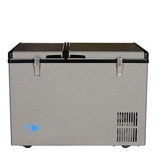 Whynter FM-62DZ 62 Quart Dual Zone Portable Fridge, AC 110V/ DC 12V True Freezer for Car, Home, Camping, RV-8°F to 50°F, One Size, Gray