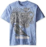 The Mountain Men's Big and Tall Colorwear Random Talking Bird Adult Coloring T-Shirt, Blue, 5XL