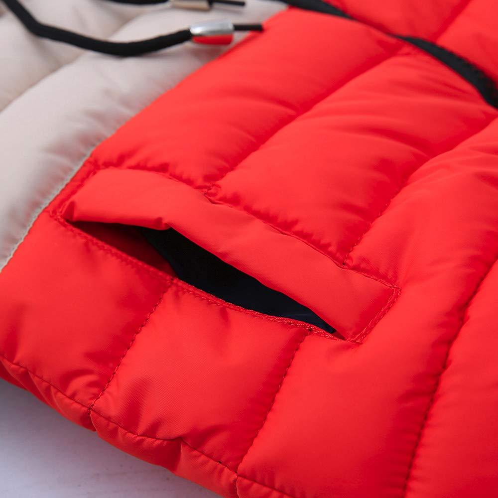 FeiliandaJJ Kinder Mantel Junge,Toddler Winterjacke mit Kapuze Zipper Outwear Jacken Kids Coat Baumwoll Warme Kleidung 4~7 Jahre alt