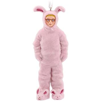 hallmark a christmas story ralphie in bunny suit christmas ornament ralphies pink nightmare by hallmark