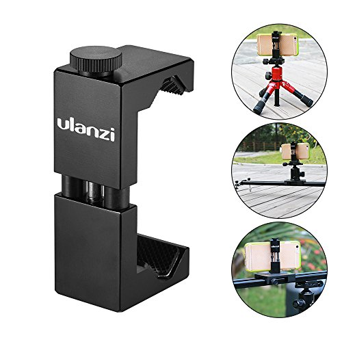 Andoer Phone Holder Phone Mount Bracket Compatible with iPhone 7/7s/6/6s Huawei Samsung Cellphone for Selfie Portrait Outdoor Video Recording with Cleaning Cloth