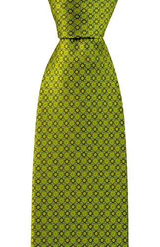 BRIONI Green Woven Ring Mesh Geometric Handmade 3.25