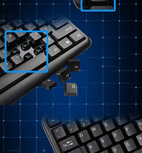 Mac Guanwen Gaming Keyboard,Wired USB Waterproof Mute Ergonomic Multimedia Office Keyboard Support Windows 10//8 Linux Vista//XP