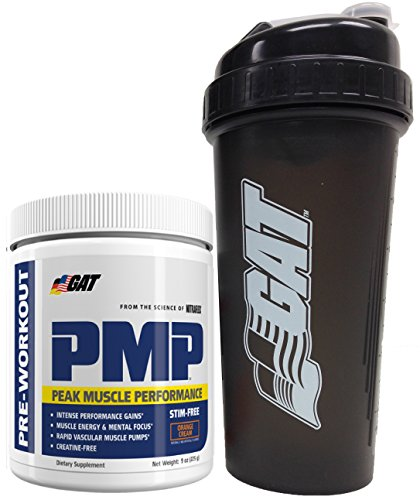 GAT-PMPTM-Peak-Muscle-Performance-Pre-Workout-Powder-9oz-255g-with-BONUS-GAT-Shaker-Bottle-Orange-Cream-Stim-Free
