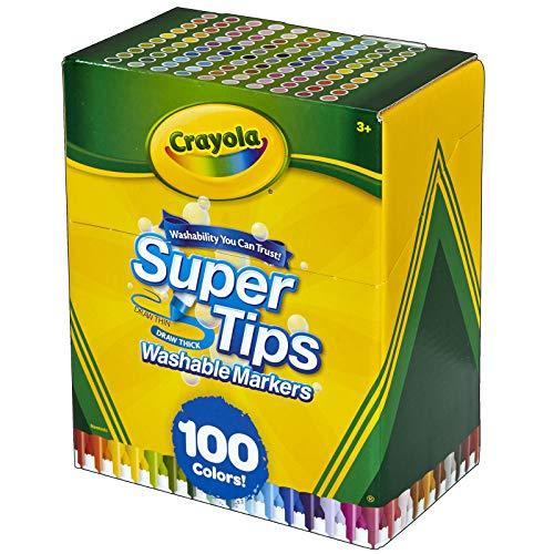 Crayola Super Tips Marker Set, 100 Washable Markers, Assorted...