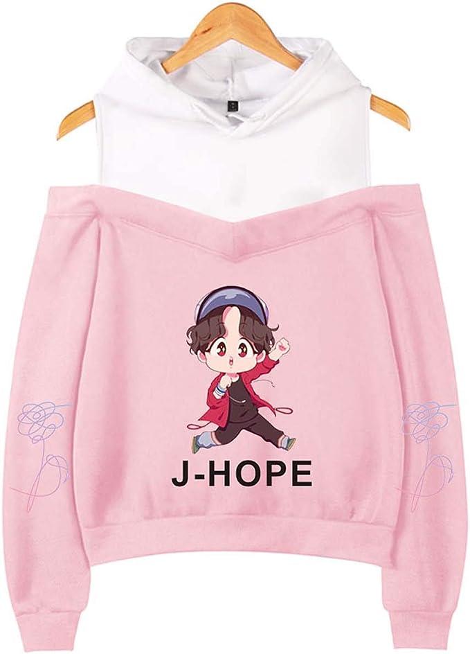 Imagen deZIGJOY KPOP Love Yourself Tear Sudadera con Capucha con Sudadera Suga Jin Jimin V Jungkook J-Hope para Fanáticos