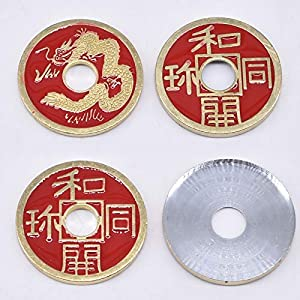 Doowops Expanded Chinese Shell + Coin Magic Tricks Close Up Prop Accessories Illusion Appear Disappear Coins Magic