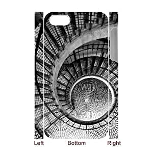 3D IPhone 4/4s Case Bigger Hearts, IPhone 4/4s Case Heart & Love, [White]