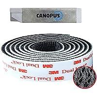 CANOPUS - Dual Lock Klittenband SJ3550, (25,4mm x 1 m), Bevestigings tape, extra sterk, flexibele druksluiting, Zwart…