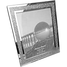 Amlong Crystal Sparkle Mirror Glass Picture Frames 8 x 10