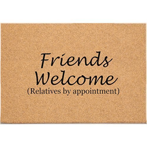 24 x 36 DuraCoir Funny Mats - Friends welcome (relatives by appointment)
