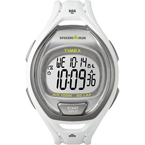 Timex Unisex TW5K96200 Ironman Sleek 50 Full-Size White Resin Strap Watch