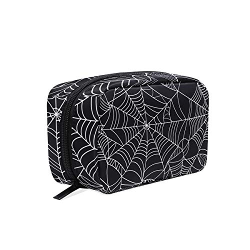 Makeup Bag Halloween Spider Web Seamles Net Cosmetic Pouch -