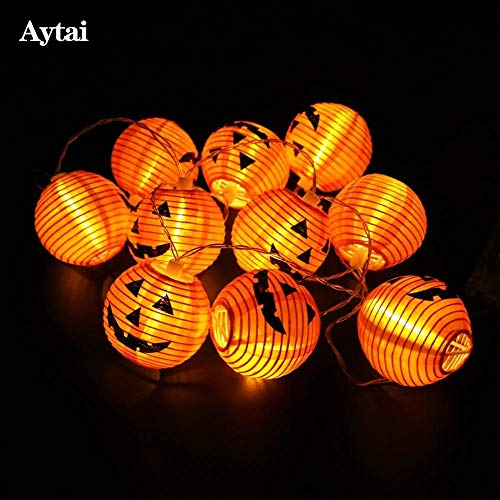 (Aytai Halloween String Lights Pumpkin String Lights Halloween Party Lights Warm White Halloween Home)