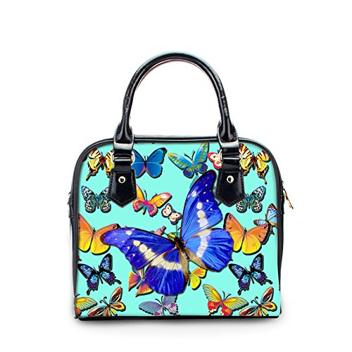 Women PU U Handle Blue Butterfly Bag Crossbody Leather FOR DESIGNS Fashion Top Handbag xqHgXgpw