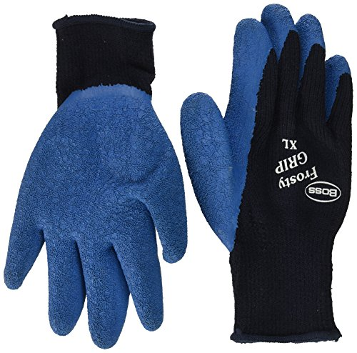 Gloves Knit Plus String - Boss #8439X Frosty Grip Extreme String Knit Glove. Size X-Large, Color Blue