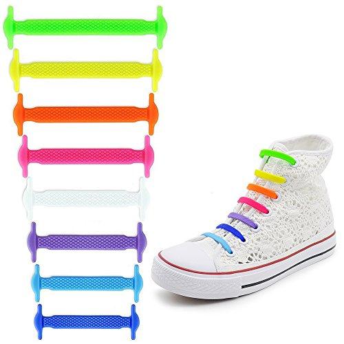Silicone Multicolore Pour Sneackers Sconosciuto Élastiques Bianco Chaussures Lacets En Paio Gymnastique Sportifs 1 De wqWgZ7t