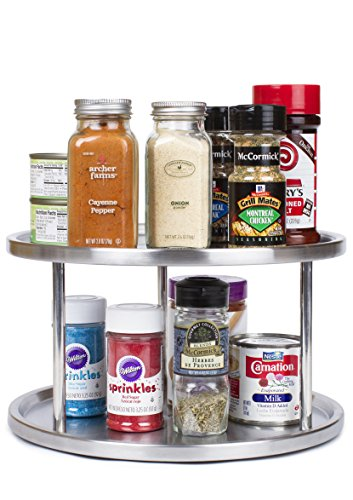 Stainless Steel Lazy Susan - 2 Tier
