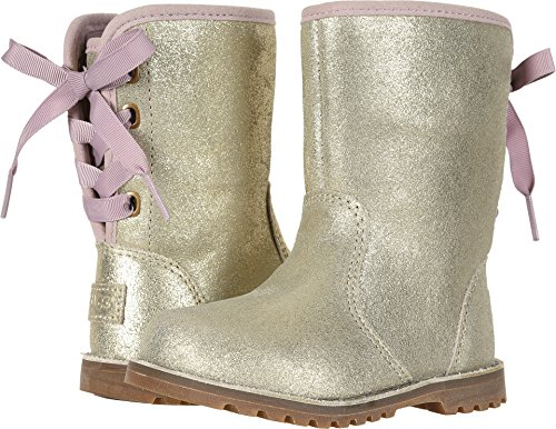 UGG Girls' T Corene Metallic Fashion Boot, Gold,