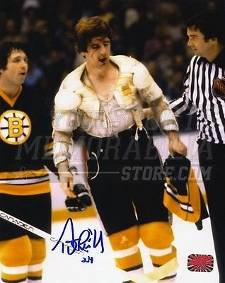 - Terry O'Reilly Boston Bruins Signed Autographed No Jersey Blood Drip Face 8x10