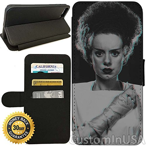 Flip Wallet Case for iPhone 8 PLUS (Bride of Frankenstein) with Adjustable Stand and 3 Card Holders | Shock Protection | Lightweight | Includes Free Stylus Pen by Innosub