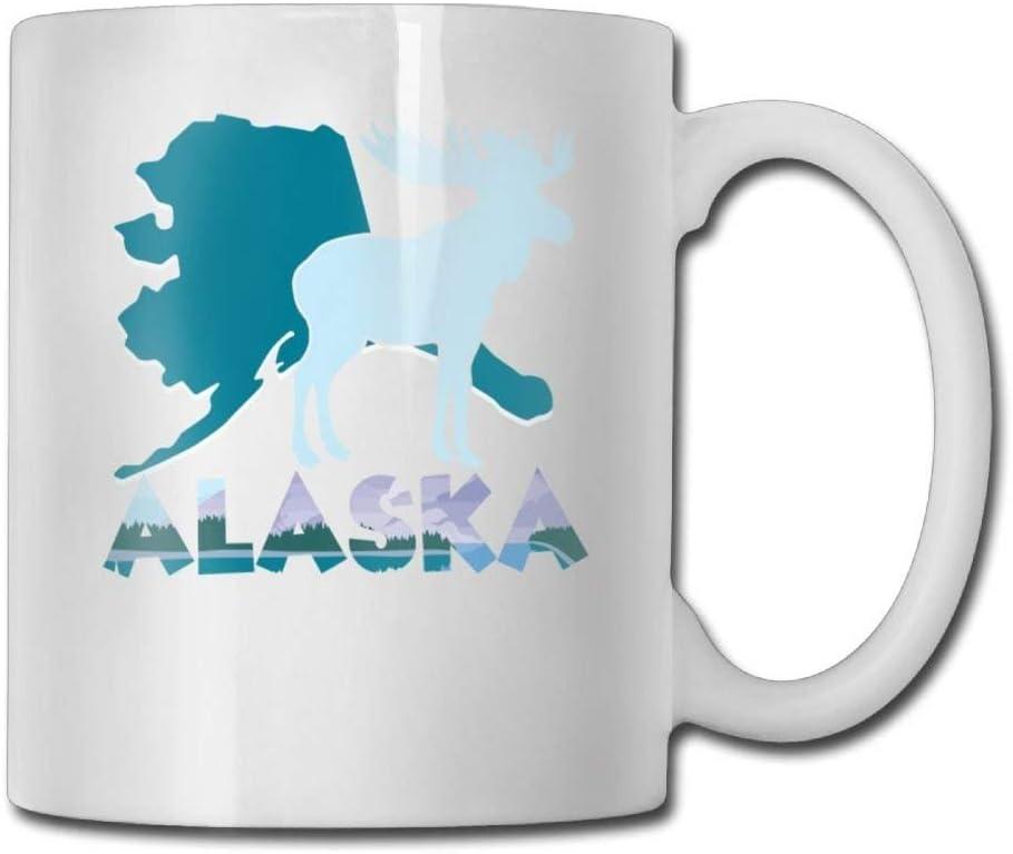 Alces Alaska Tazas de café Regalo de cumpleaños Taza de té de cerámica Un regalo perfecto para su familia y amigos