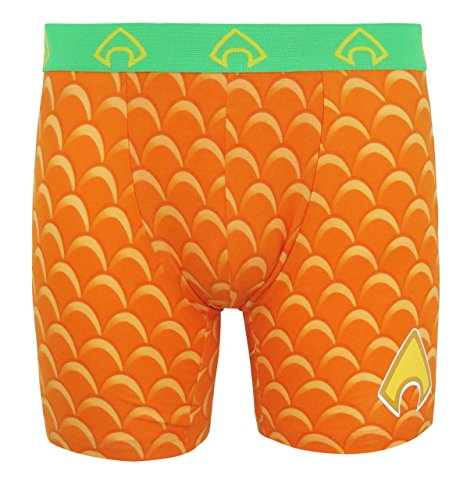 Aquaman Costume Logo Men's Underwear Boxer Briefs- Medium (32-34)