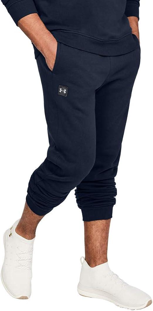 Details about  /Under Armour Men/'s Rival Fleece Logo Joggers Heather Grey 2XL