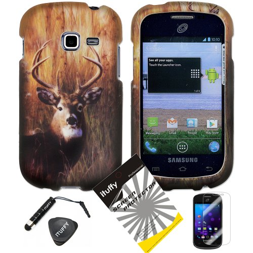 4-items-Combo-ITUFFY-LCD-Screen-Protector-Film-Mini-Stylus-Pen-Case-Opener-Outdoor-Wild-Deer-Grass-Camouflage-Design-Rubberized-Snap-on-Hard-Shell-Cover-Faceplate-Skin-Phone-Case-for-Samsung-Galaxy-Ce