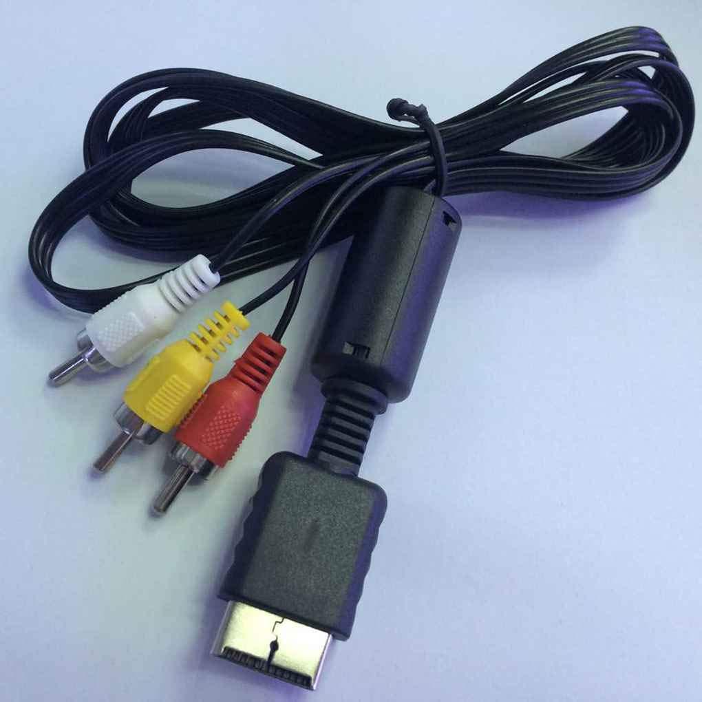 fish Sostituzione 1.8m PVC AV Video Cavo Audio per Playstation//PS 1//2//3 Gioco TV Cord