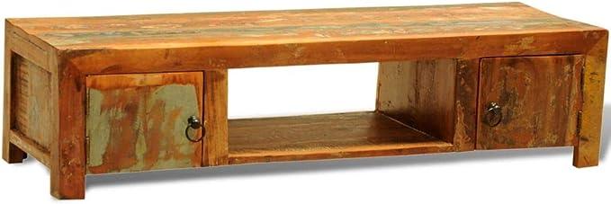 xinglieu Armario de Madera Envejecido para TV con 2 Puertos Estilo Antiguo Vintage diseño Sencillo y cómodo y Resistente Puerto Mueble Mueble para DVD: Amazon.es: Electrónica