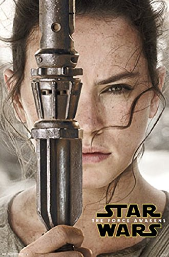 Star Wars Episode VII - Daisy Ridley Character - Daisies Poster