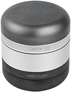 KANNASTOR GR8TR V2 Herb Grinder - Solid Premium Food Grade Quality Aluminum Body - 4 Pieces - Perfect for Herb Spices - Smooth Grind and Easy Cleaning - Storage Lid