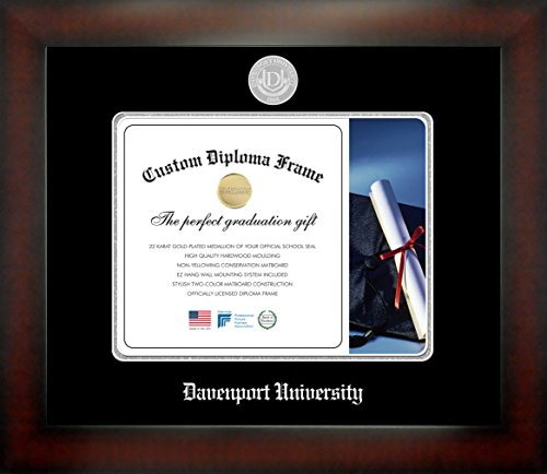 Celebration Frames Davenport University 8 x 10 Mahogany Finish Infinity Diploma Frame