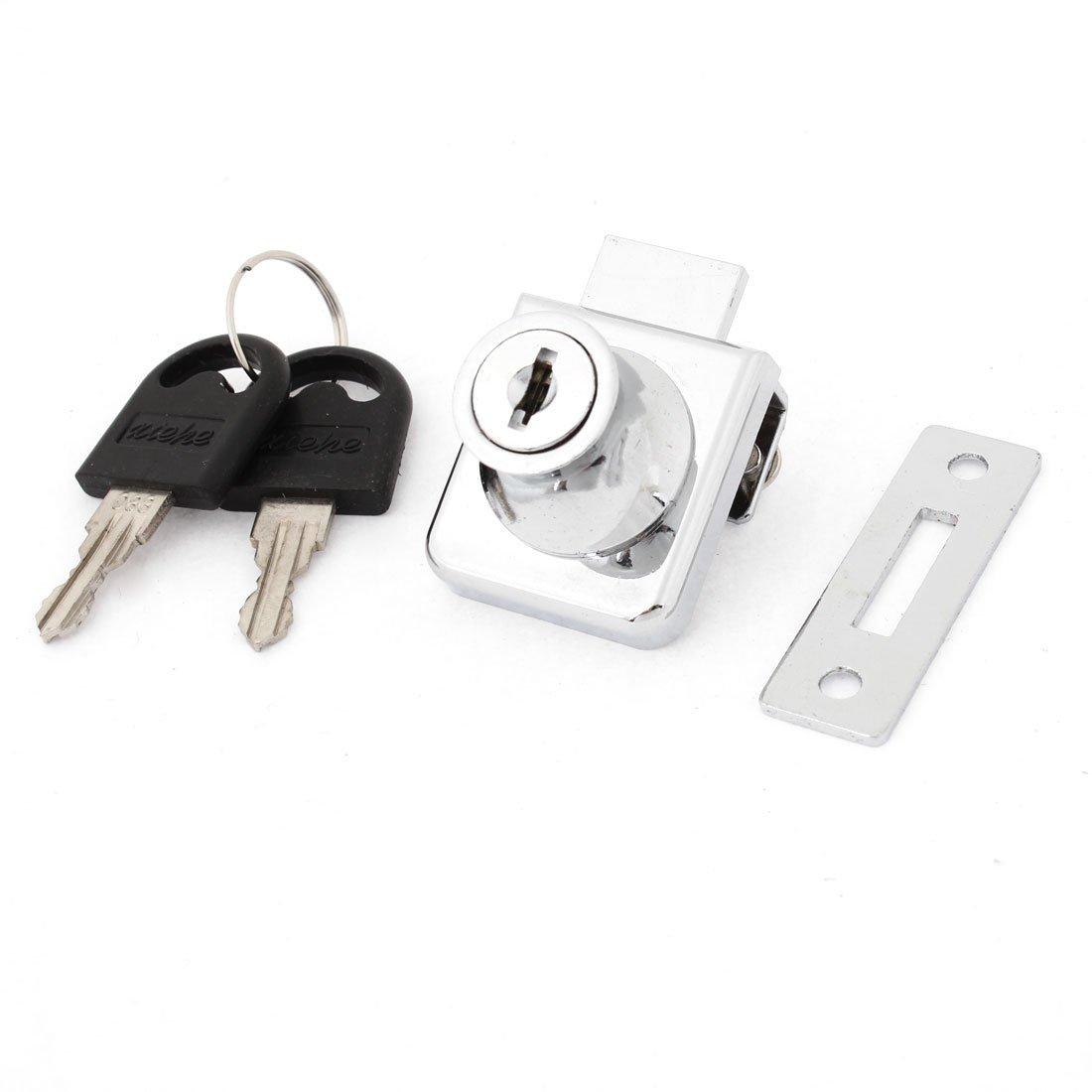 Sourcingmap - Armadio metallico porta a vetri di sicurezza domestica 1, 02 centimetri tono placcato argento a13051700ux0252