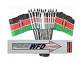 WHOLESALE Box of 144 4''x6'' Kenya Miniature Desk & Table Flags, 12 Dozen 4''x 6'' Kenyan Small Mini Stick Flag
