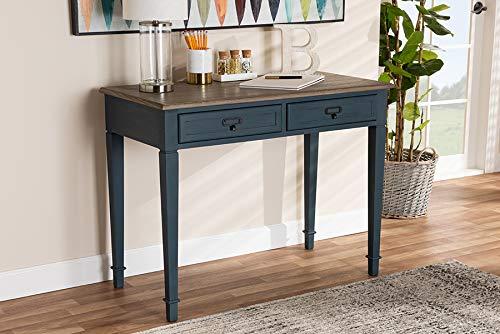 Baxton Studio Dauphine Spruce Blue Accent Writing Desk