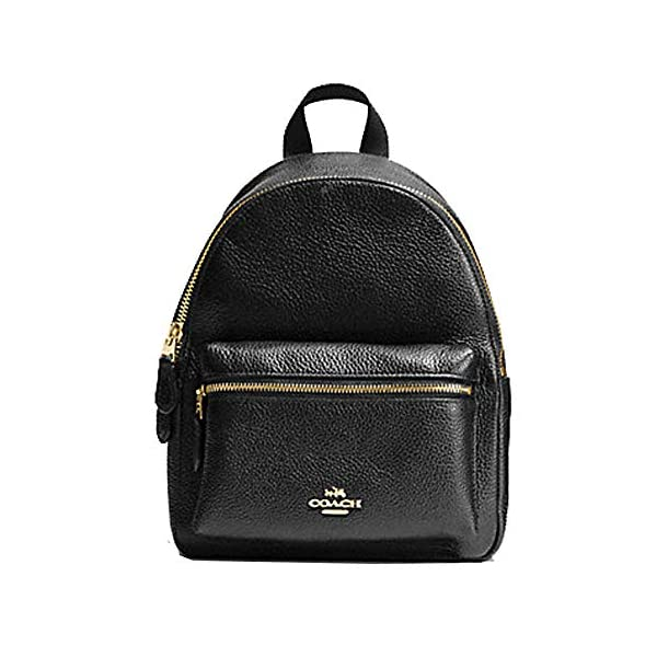 Coach Mini Charlie Pebble Leather Backpack