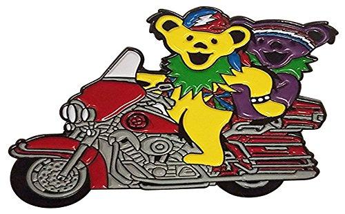 Motorcycle Bears Enamel Hat Pin - Steel / 2