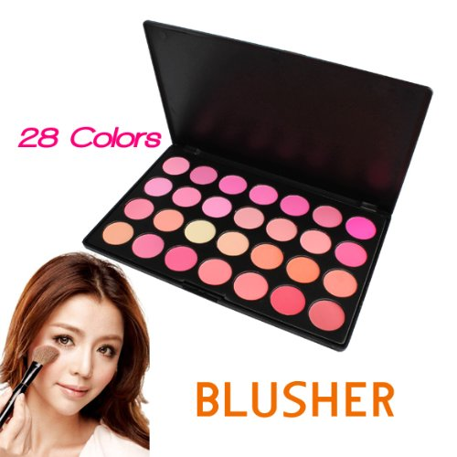 Vktech Fashion Cosmetic Blush Poudre Palette 28 couleurs fard à joues Contour maquillage