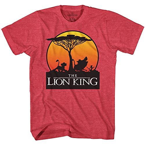 Disney Lion King Sunset Pride Stroll Africa Simba Mufasa Disneyland World Tee Adult Men's Graphic T-Shirt Apparel (Red Heather, X-Large)