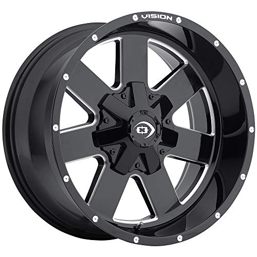 Wheel with Milled Finish (18 x 9. inches /6 x 135 mm, -12 mm Offset) ()