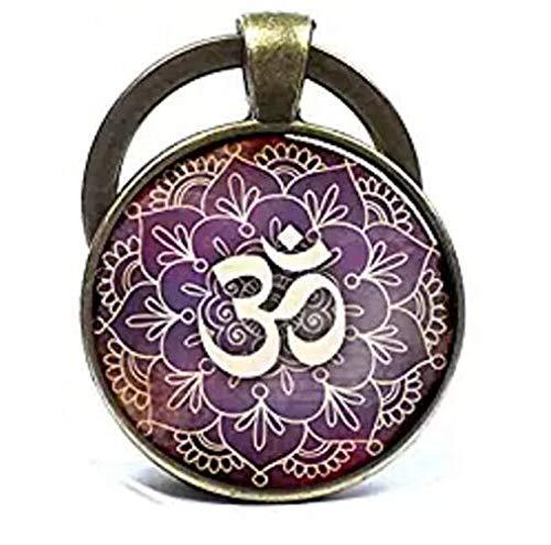 Om Llavero con símbolo de Om llavero de Namaste Zen llavero ...