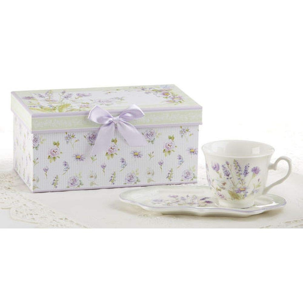 Delton 4.2X9 Porcelain Tea /& Toast Set Lavender Rose 8136-7