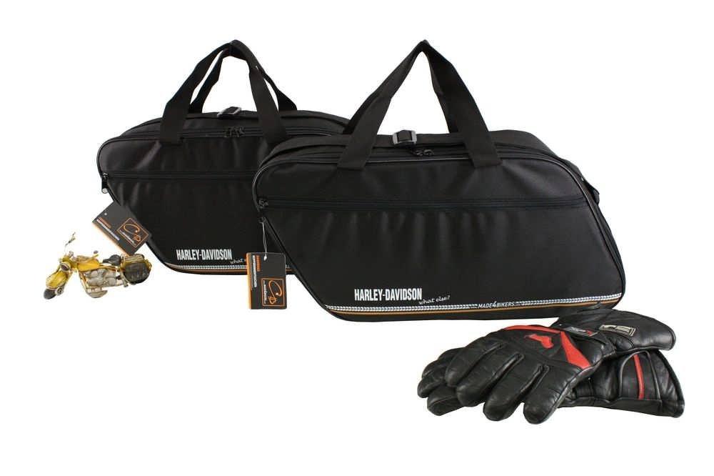 m4b Promotion: Harley-Davidson Road King valise en cuir: Poches inté rieures / sacs inté rieurs pour valises laté rales CHB-IuV