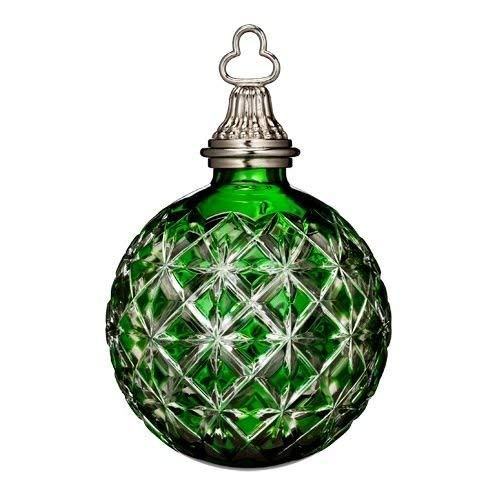 Annual Waterford Crystal Ornament (Waterford 2014 Annual 3-in Crystal Ball Ornament, Emerald Green)