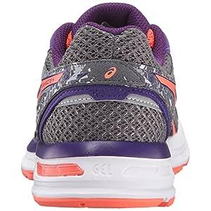 ASICS Women's Gel-Excite 4 Running Shoe, Shark/Flash Coral/Parachute Purple, 8 M US