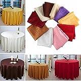 Bazaar 180cm Polyester Absorbent Round Tablecloth For Hotel Restaurant Wedding Decor