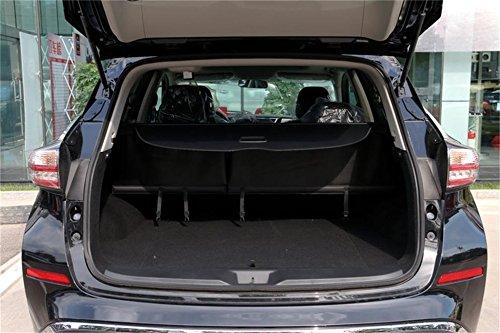 Vesul New Black Tonneau Cover Retractable Rear Trunk Cargo Luggage Security Shade Cover Shield for Nissan Murano 2015 2016 2017 2018
